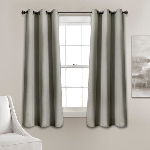 Lush Decor Absolute Blackout Window Curtain Panel Pair