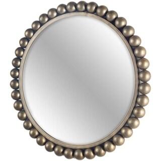 Mercana Orbit II Goldtone Metal Round Modern Mirror