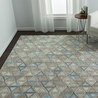 Strick & Bolton Lalezar Geometric High-low Area Rug