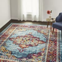 The Curated Nomad Eddison Medallion Frise Area Rug