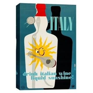 "Epic Graffiti ""Drink Italian Wine Vintage Advertisement"" Giclee Canvas Wall Art, 12"" x 18"""