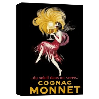 "Epic Graffiti ""Cognac Monnet Vintage Advertisement"" Giclee Canvas Wall Art, 12"" x 18"""