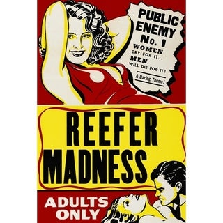 """Epic Graffiti """"Reefer Madness Vintage Movie Poster"""" Giclee Canvas Wall Art, 12"""" x 18"""""""