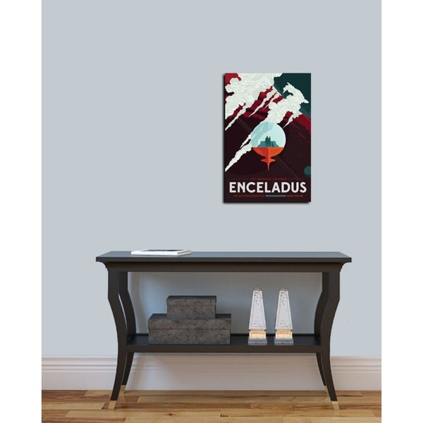 "Epic Graffiti /""Visions of the Future Enceladus/"" Giclee Canvas Wall Art 12/"" x 1"