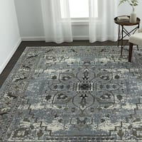 VCNY Home Victoria Grey Medallion Frise Area Rug