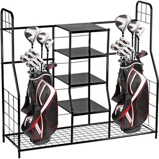 Golf Bag Sports Dual Golf Storage Organizer golf organizer rack