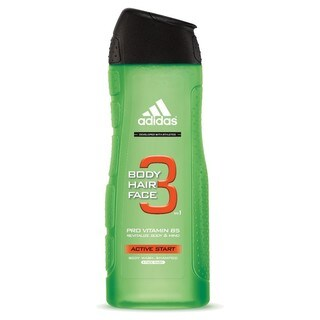 Adidas Active Start Men's 16.1-ounce 3-in-1 Body, Hair & Face Wash Shower Gel