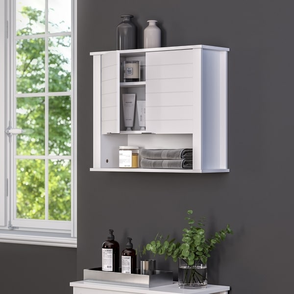 RiverRidge Madison Collection 2-Door Wall Cabinet - White
