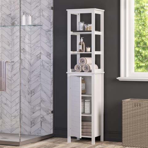 RiverRidge Madison Collection Linen Tower with Open Shelves