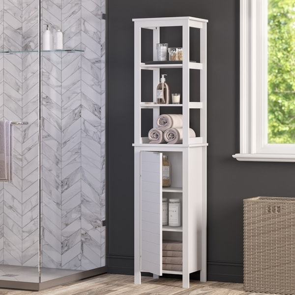 RiverRidge Madison Collection Linen Tower with Open Shelves. Opens flyout.