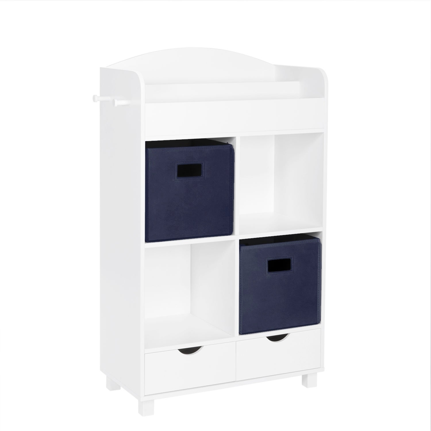Riverridge Kids Cubby Storage Cabinet With Bookrack With Optional Bins