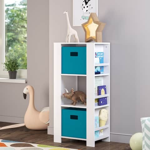 RiverRidge Kids Cubby Storage Tower with Bookshelves and Optional Bins