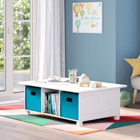 RiverRidge 6 Cubby Storage Activity Table with Optional Bins