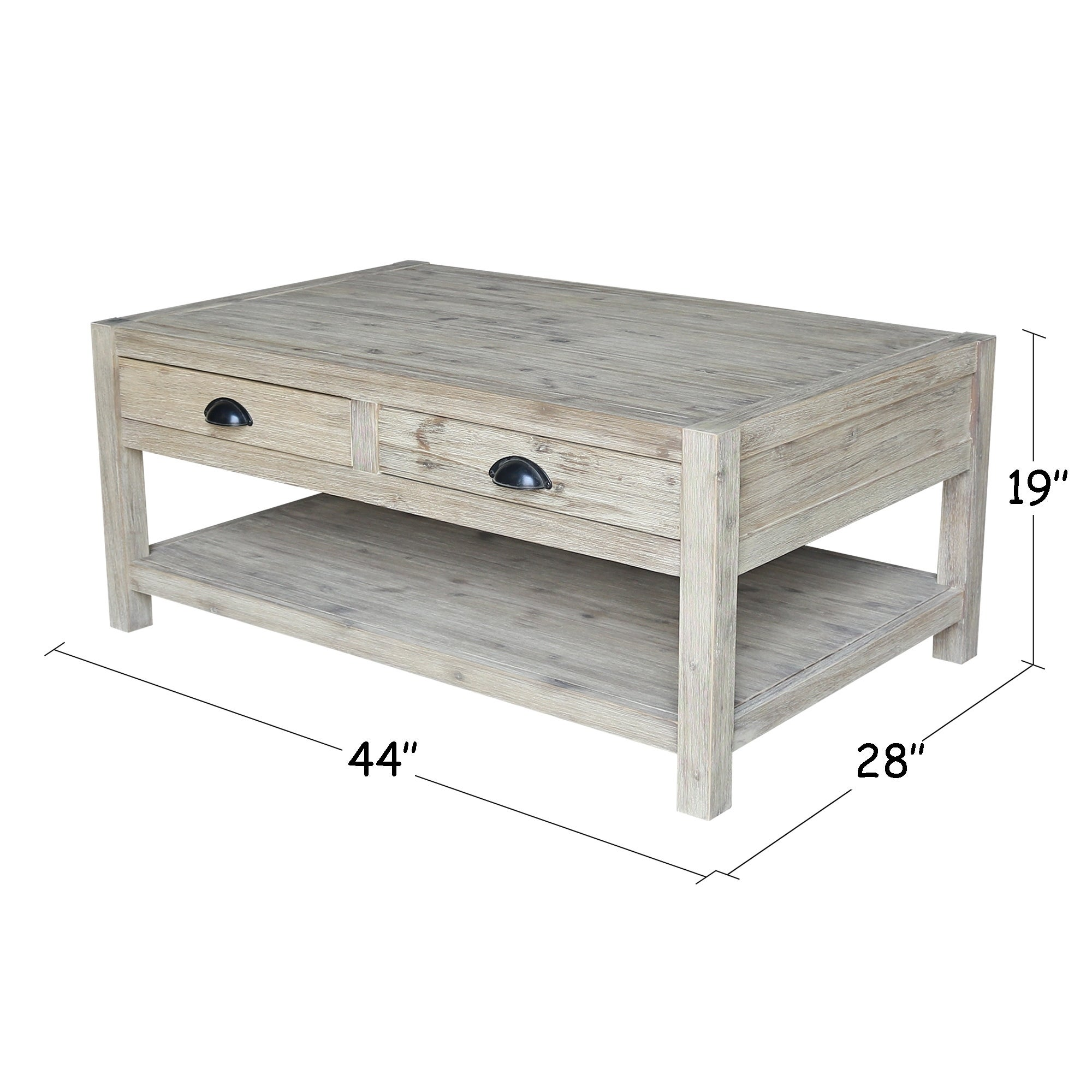 Shop Modern Rustic Coffee Table Free Shipping Today Overstock