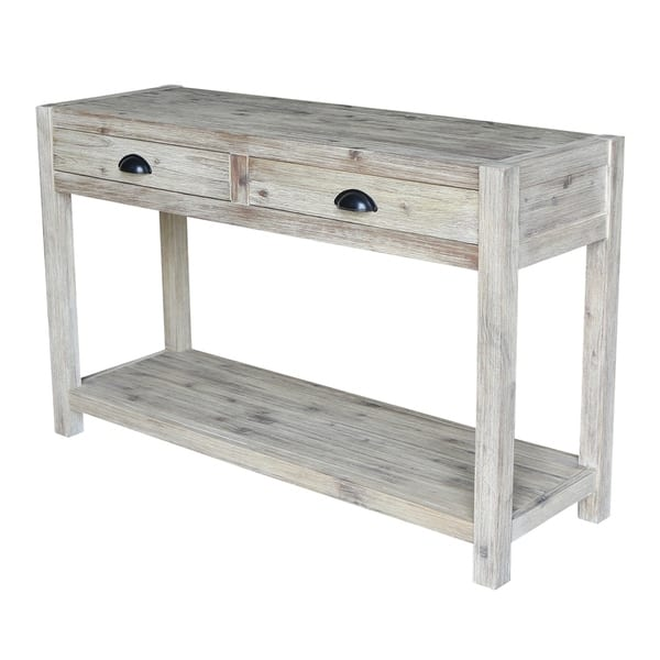 Amazing Shop Modern Rustic Console Sofa Table On Sale Free Spiritservingveterans Wood Chair Design Ideas Spiritservingveteransorg
