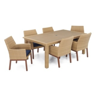 Mili 7pc Dining Set in Navy Blue by RST Brands