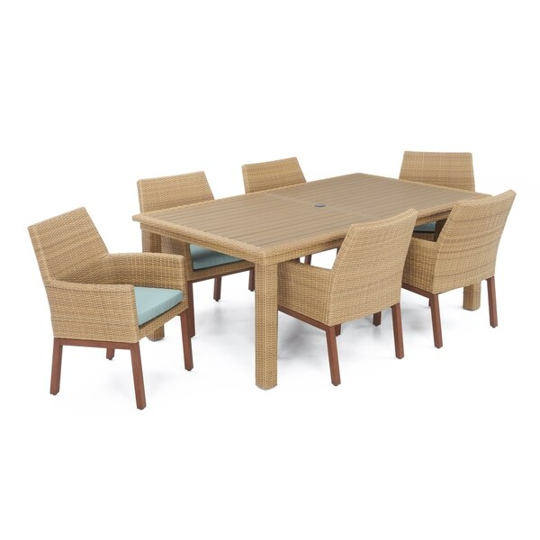 Mili 7pc Dining Set in Spa Blue by RST Brands