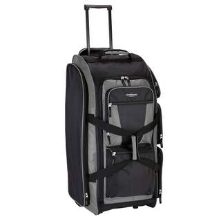 "Travelers Club 30"" Multi-Pocket Rolling Duffel Bag"