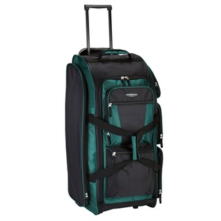 "Travelers Club 30"" Multi-Pocket Rolling Duffel Bag"