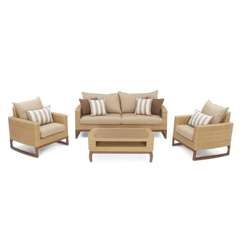 Mili 4pc Seating Set in Maxim Beige by RST Brands