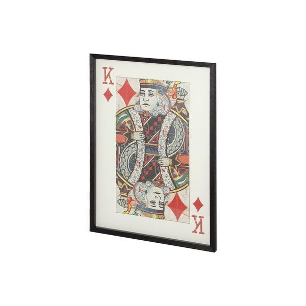 Shop Mercana \'King of Diamonds II\' Metal Frame Paper Collage Wall ...