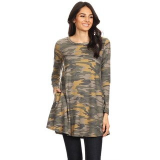 Women's Pattern Print Casual Tunic Top