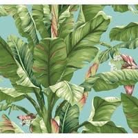 Banana Leaf Wallpaper 27 in. x 27 ft.  60.75 sq.ft.