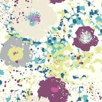Spontaneity Wallpaper - Teal/Plum 20.8 in. x 33 ft.  57.2 sq.ft.