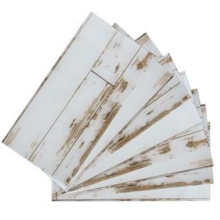 "3""x6""x2mm SkinnyTile Peel&Stick Glass Skin Wall Tile, Set of 48"