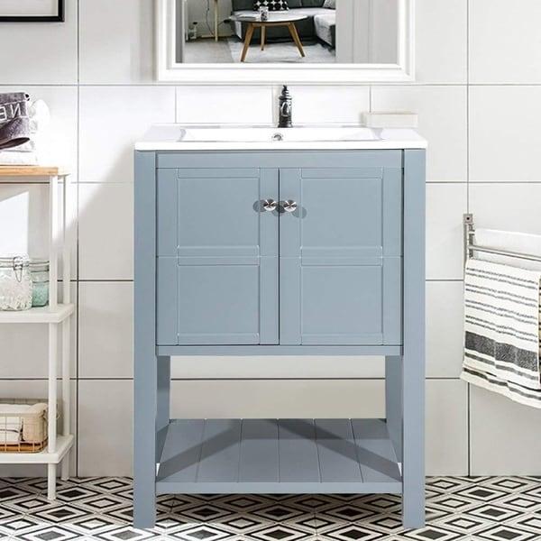Shop Harper Bright Designs 24 Inch Single Bathroom Vanity Cabinet