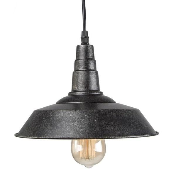 Lnc 1 Light Blackened Barn Warehouse Style Pendant