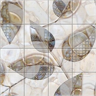 2'x2' Upscale Designs Mural - Crystal Glass Wall Art, Set of 16