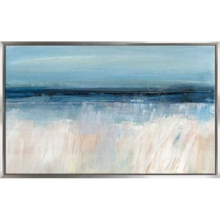 """""""On The Severn I"""" by Susan Jill Print on Canvas in Floating Frame - Blue"""