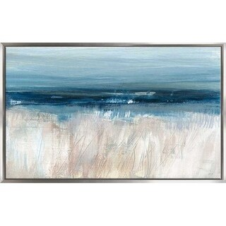 """""""On The Severn II"""" by Susan Jill Print on Canvas in Floating Frame - Blue"""