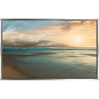 """""""Island Mist"""" by Mike Calascibetta Print on Canvas in Floating Frame - Blue"""