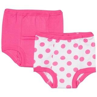 Gerber Training Pants - 2 Pack - Pink Polka Dot - 3T