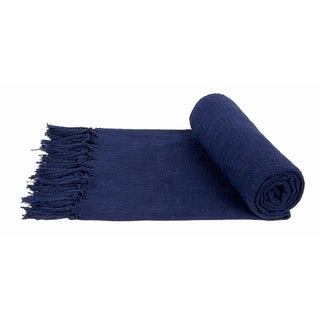 Link to Porch & Den Cloudrest Cotton Slub Decorative Fringe Throw Blanket (Set of 2) Similar Items in Blankets & Throws