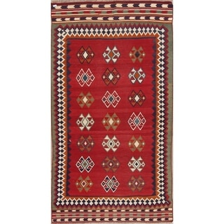 """Copper Grove Beder Hand Woven Wool Geometric Persian Rug For Entryway - 9'2"""" x 4'7"""""""