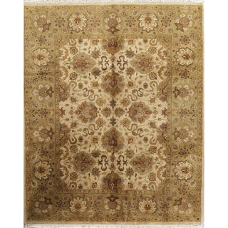"""Hand Knotted Wool Floral Oushak Agra Indian Oriental Area Rug - 9'11"""" x 8'0"""""""