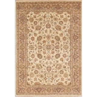 "Hand Knotted Wool Floral Agra Indian Oriental Area Rug For Foyer - 5'9"" x 4'1"""