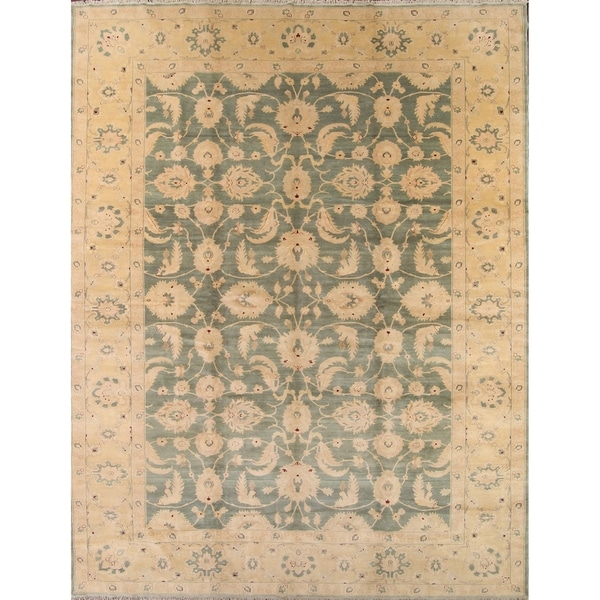 Shop Oushak Floral Tufted Wool Persian Oriental Area Rug: Shop Oushak Floral Agra Egypt Oriental Hand Knotted Wool