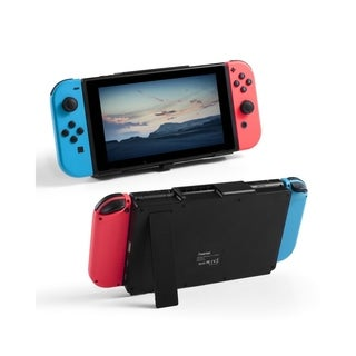INSTEN Portable 10000mAh Power Bank Battery Case with Kickstand and USB Type C Slot for Nintendo Switch/ iPhone XS Max - Black
