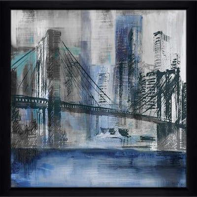 """Brooklyn Bridge"" by Susan Jill Print on Acrylic - Blue"