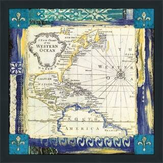 """Bohemian Traveler I"" by Tava Studios Print on Acrylic - Blue"