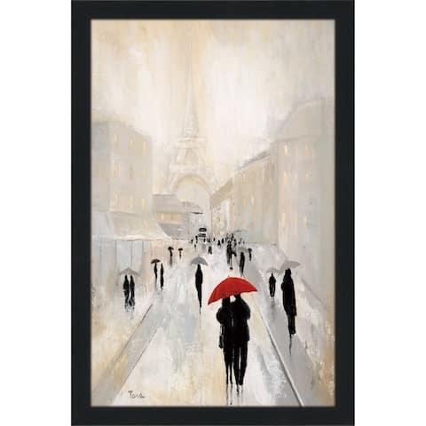 """Misty in Paris"" by Tava Studios Print on Acrylic - gray"