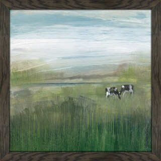 """Grazing In Shandelee 1"" by Susan Jill Print on Acrylic - Green"