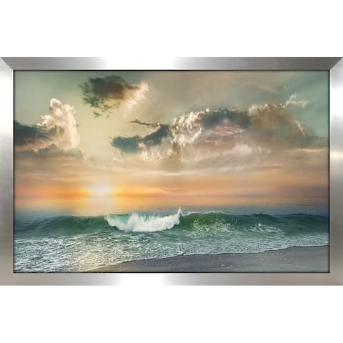 """Sundown Malibu"" by Mike Calascibetta Print on Acrylic - Blue"