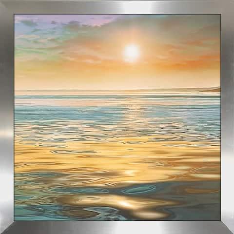 """Evening Calm"" by Mike Calascibetta Print on Acrylic - Orange"