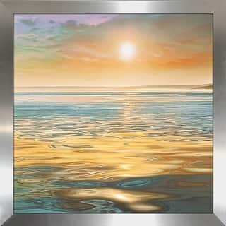 """Evening Calm"" by Mike Calascibetta Print on Acrylic - Orange"