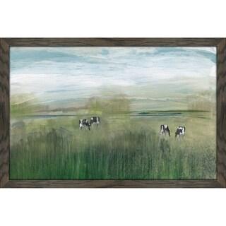 """Grazing In Shandelee"" by Susan Jill Print on Acrylic - Green"